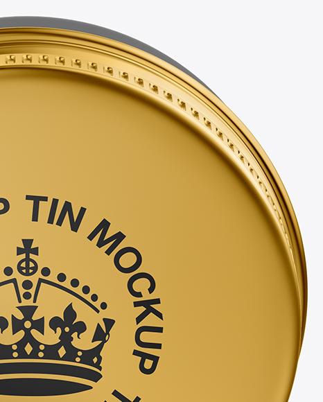 Glossy Lip Balm Tin Mockup