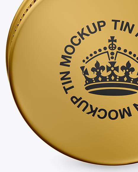 Metallic Lip Balm Tin Mockup