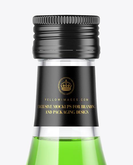 Clear Glass Bottle Mockup