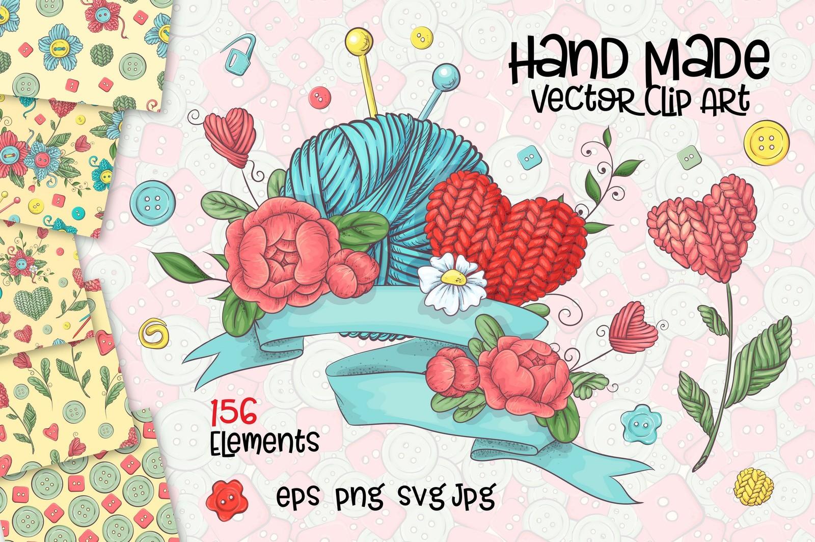 Hand Made – vector clip art
