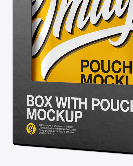 Box w/ Pouches Mockup