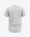 Men's Two-Buttons Baseball Jersey Mockup - Back View Of Henley T-Shirt