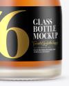 Frosted Glass Whisky Bottle Mockup