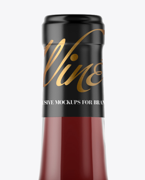 1.5L Clear Glass Red Wine Bottle Mockup