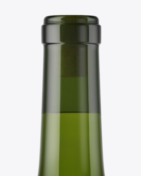 1.5L Green Glass Bottle With White Wine Mockup