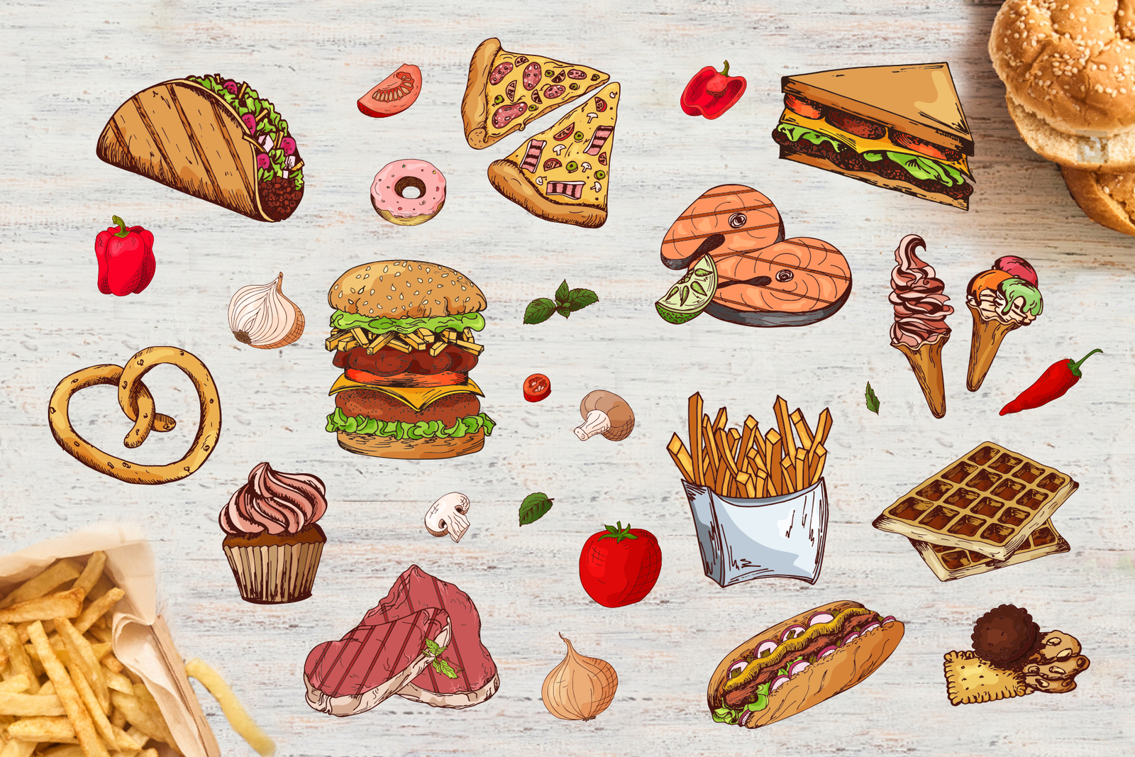Fast Food-clipart+menu
