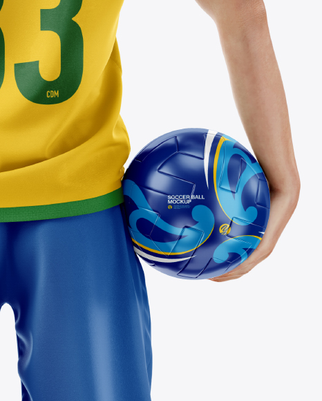 Soccer Player with Ball Mockup