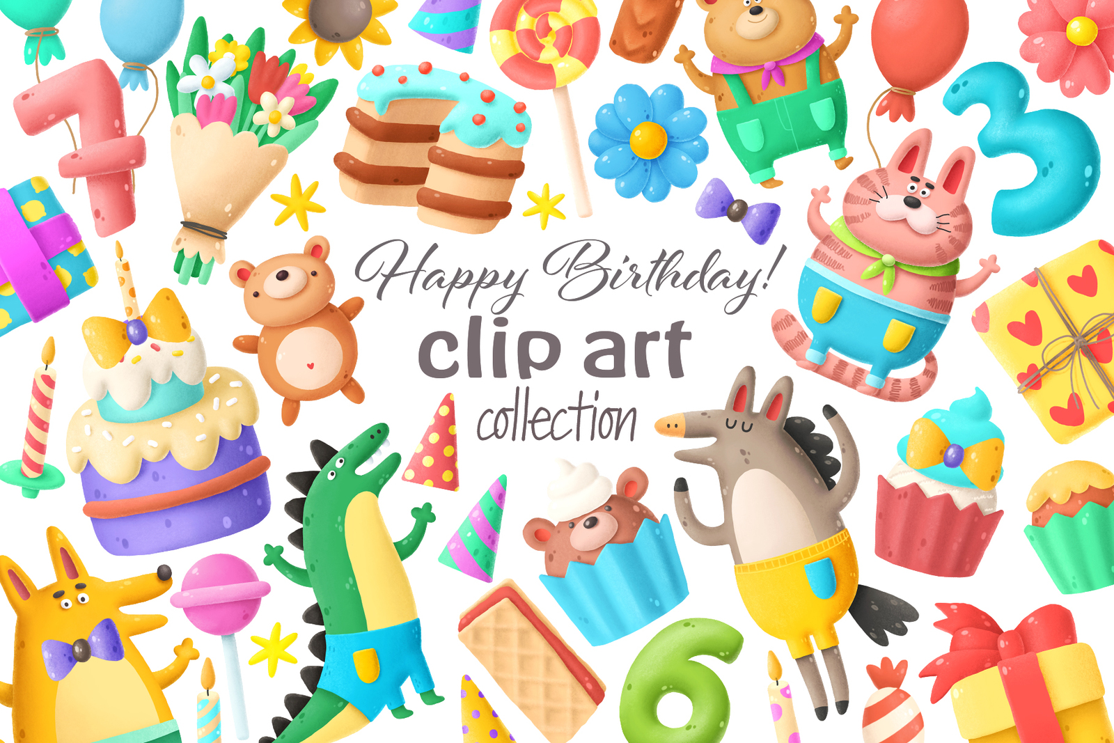 Birthday clip art collection