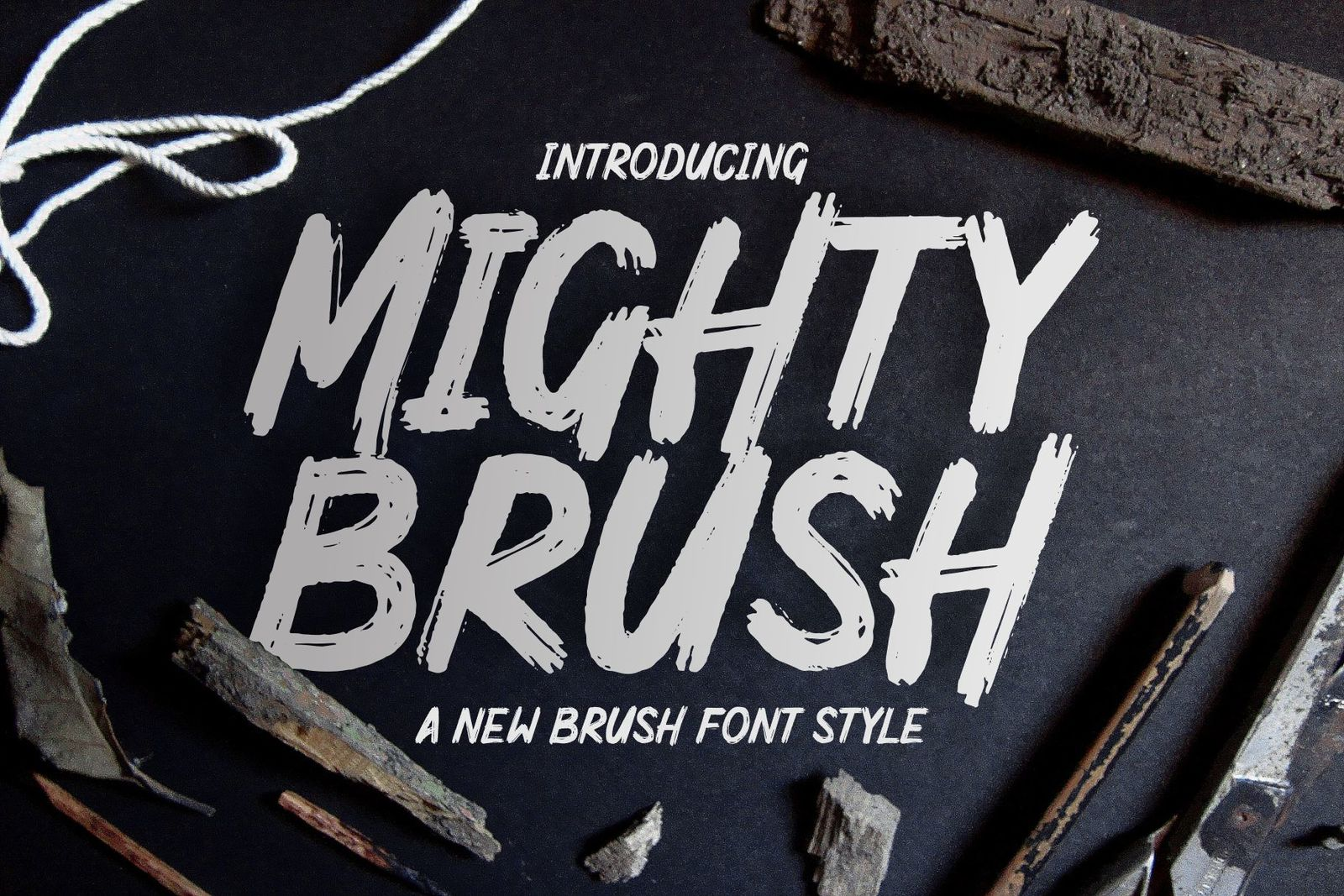 Mighty Brush Fonts