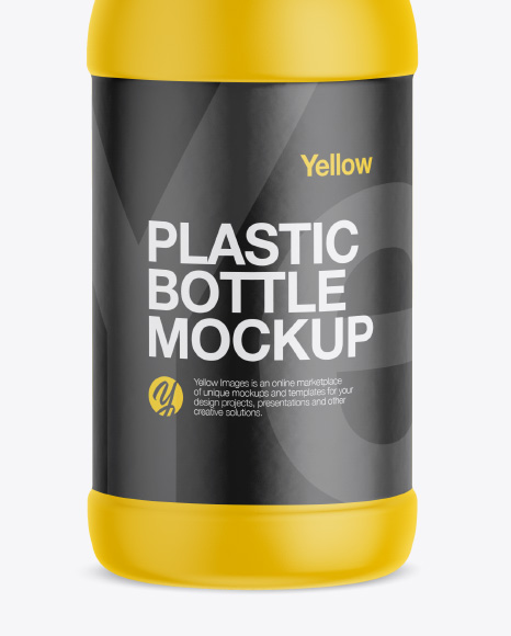 Matte Plastic Bottle Mockup