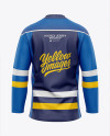 Men's Hockey Jersey Mockup - Back View