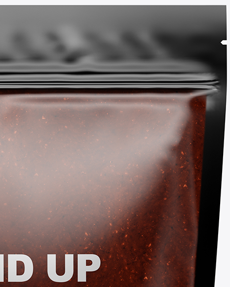 Glossy Transparent Stand-Up Pouch w/ BBQ Sauce