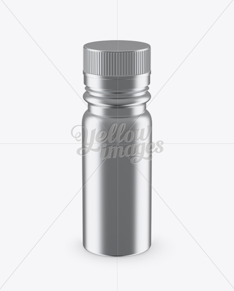 Download Nutritional Supplement Bottle With Chrome Finish Mockup High Angle Shot In Bottle Mockups On Yellow Images Object Mockups PSD Mockup Templates