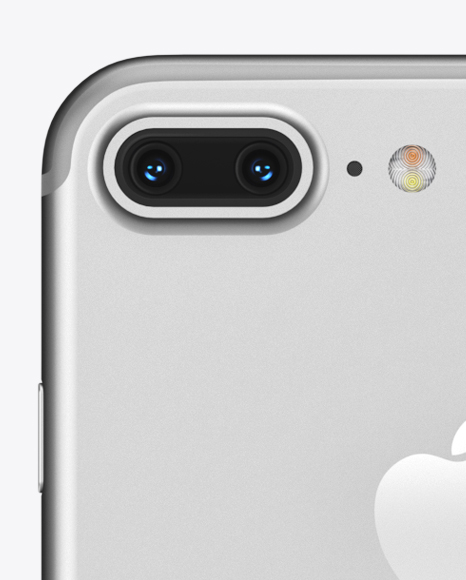 Apple iPhone 7 Plus Silver Mockup - Front & Back Views