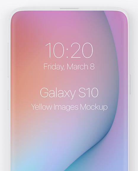 Clay Samsung Galaxy S10 Mockup