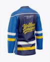 Men's Hockey Jersey Mockup - Back Half-Side View