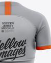 Women's Soccer Jersey Mockup - Back View