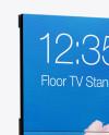 LCD Display Stand Mockup - Half Side View