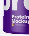 Matte Protein Jar Mockup