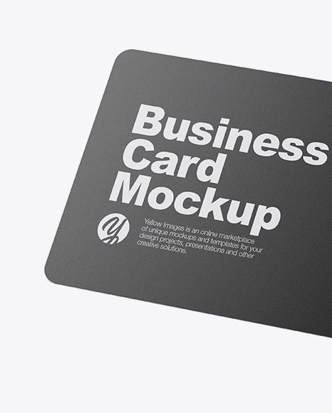 Glossy Business Cards Mockup