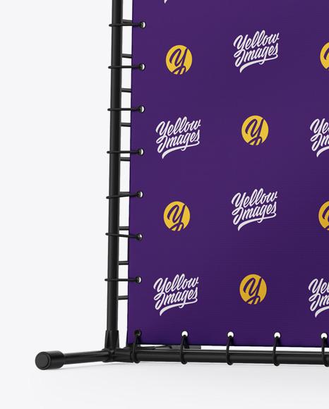 Press Wall Banner w/ Matte Frame Mockup