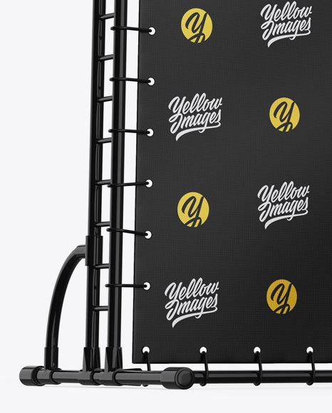 Press Wall Banner w/ Glossy Frame Mockup