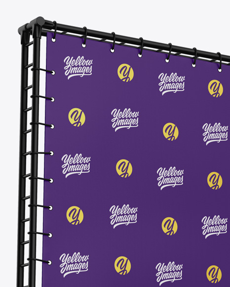 Press Wall Banner w/ Matte Frame Mockup