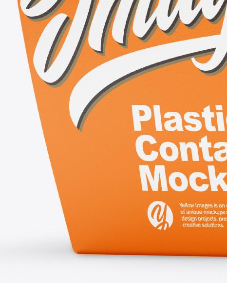 Plastic Container Mockup