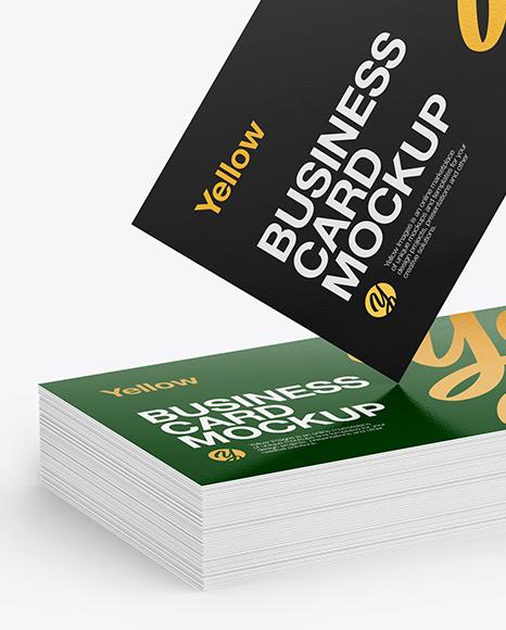 Stack of Business Cards Mockup