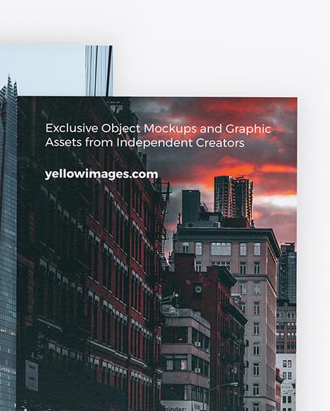 Two Textured Brochures Mockup