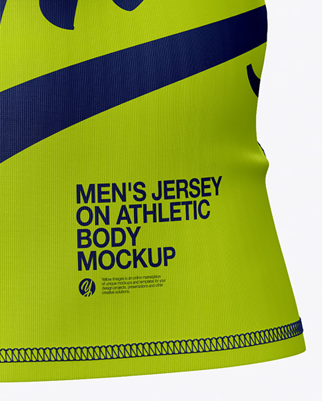 Men's Jersey on Athletic Body Mockup