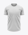 Men's Soccer Crew Neck Jersey Mockup - Front View - Football T-shirt