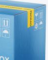 Cardboard Box Mockup - Half Side View (High-Angle Shot)