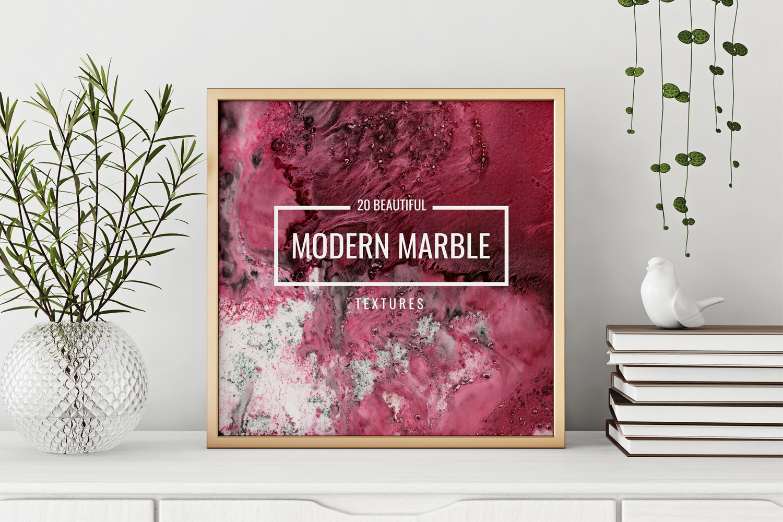 Modern marble digital paper textures