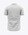 Men's Crew Neck Soccer Jersey Mockup - Back View - Football Jersey Soccer T-shirt