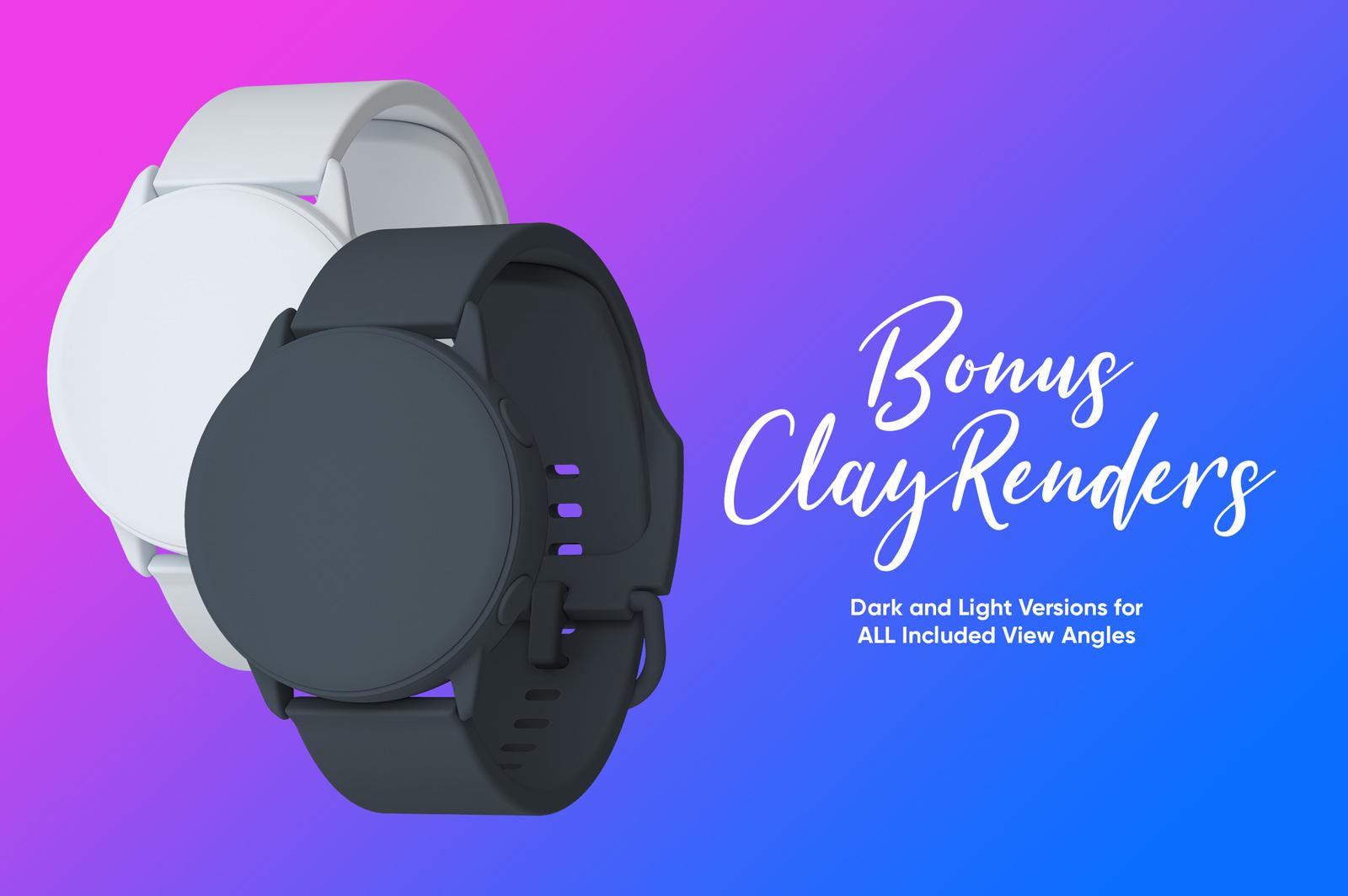 Samsung Galaxy Watch Design Mockup