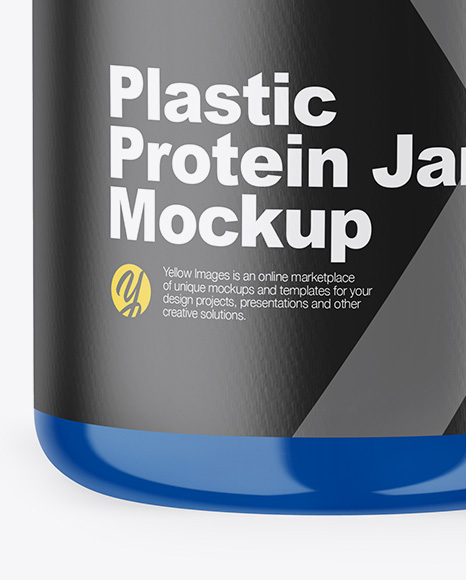 Download Glossy Protein Jar Mockup Front View PSD - Free PSD Mockup Templates