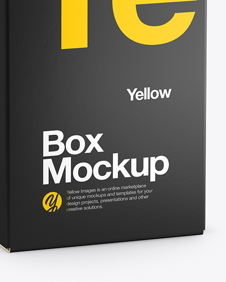 Glossy Paper Box w/ Hang Tab Mockup