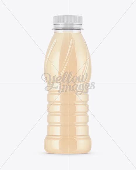 Plastic Bottle W/ Banana Juice Mockup