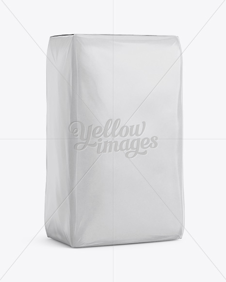Glossy Paper Bag Mockup - Halfside View