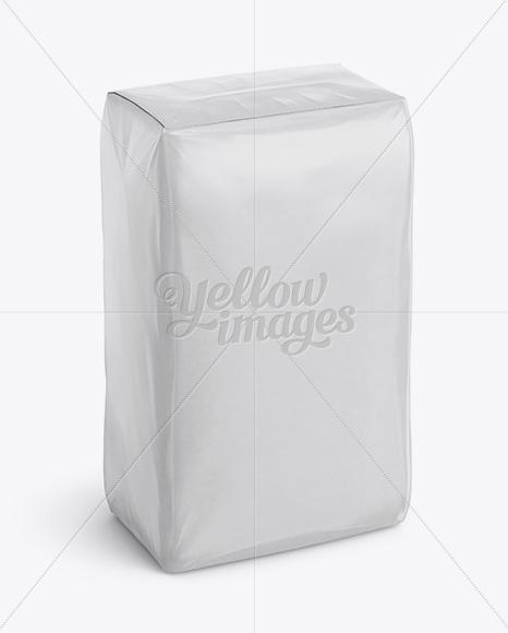 Glossy Paper Bag Mockup - Halfside View (High-Angle Shot)
