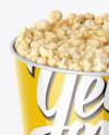 Large Glossy Popcorn Bucket Mockup (High-Angle Shot)