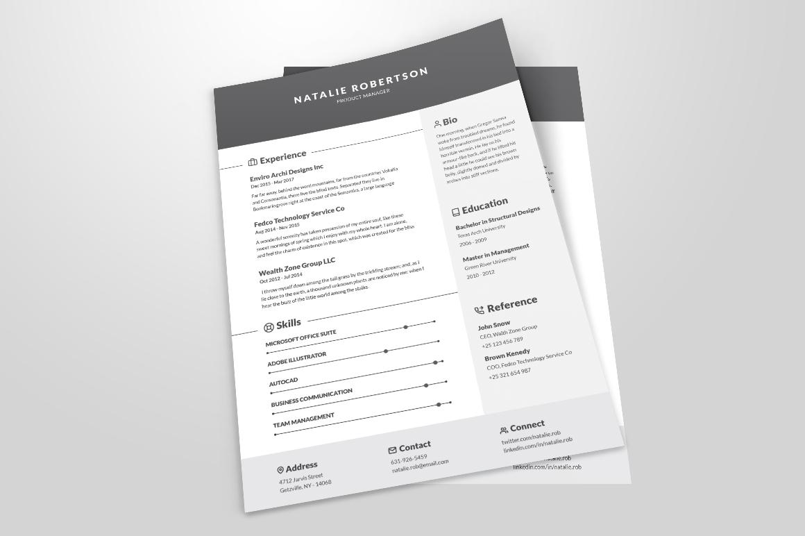 Resume/CV Template - Natalie