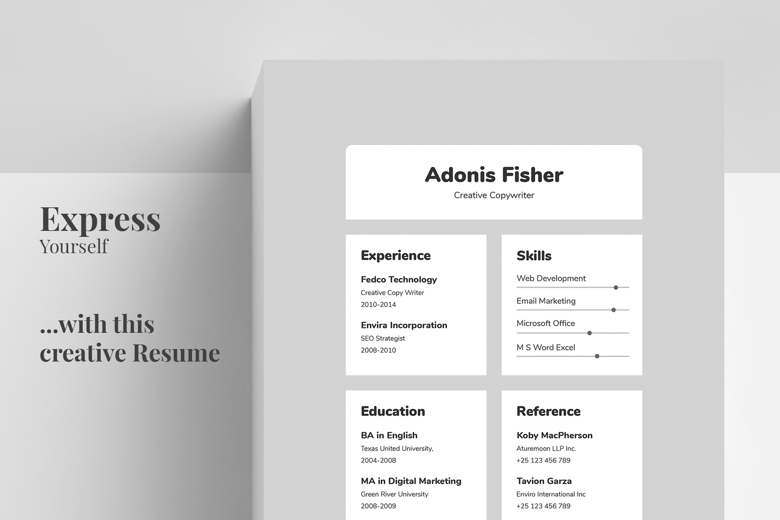 Resume/CV Template - Adonis