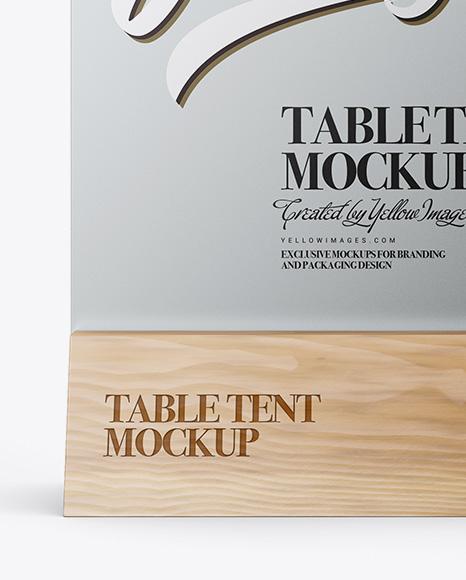 Metallic Table Tent Mockup