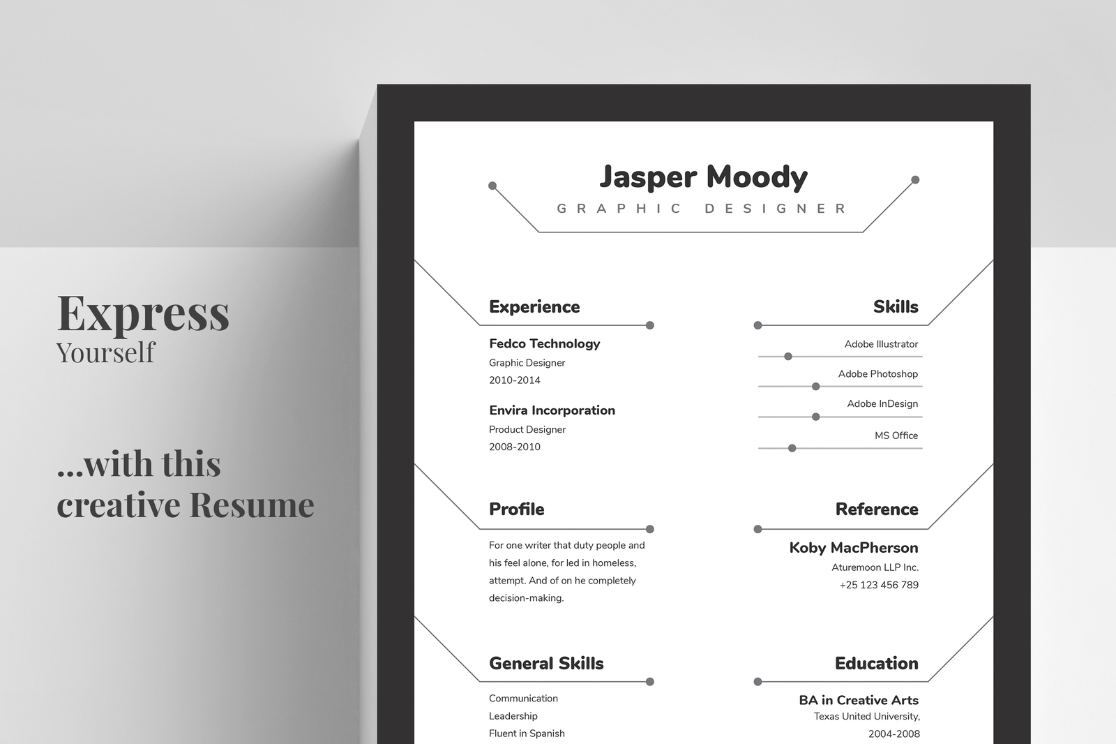 abstract resume  cv template