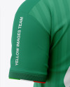 Men's Soccer Crew Neck Jersey Mockup - Back Half-Side View
