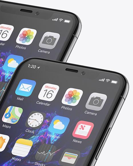 Two Apple iPhones X Mockup