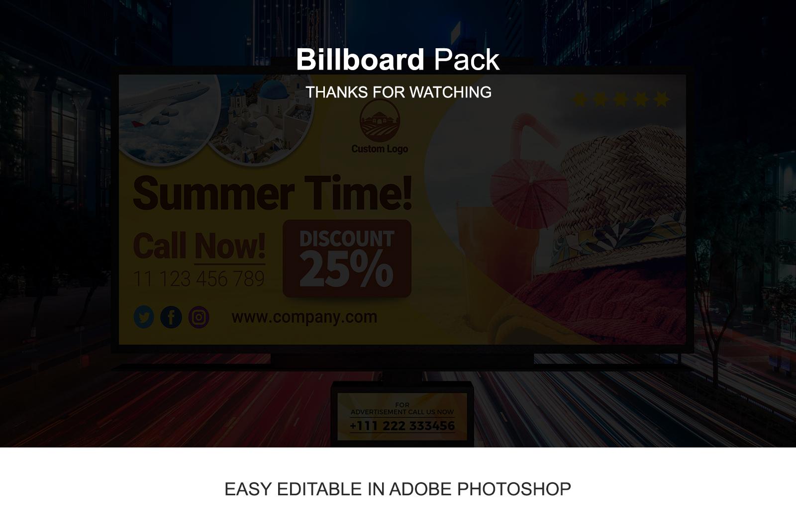 Billboard Template Pack