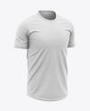 Men's Crew Neck Soccer Jersey Mockup - Front Half-Side View - Football Jersey Soccer T-shirt